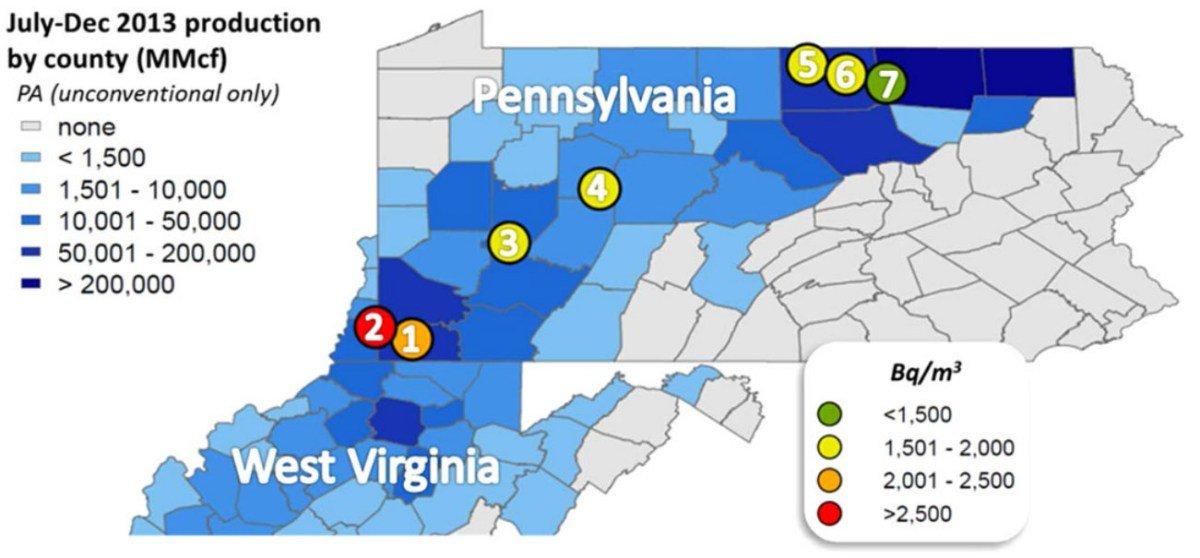Pennsylvania Virginia Map.Is Your Radon Risk Greater In Pennsylvania And West Virginia
